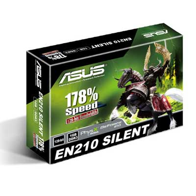Asus N210-Silent-DI-1GD3 (Geforce 210/ 1Gb/ DDR3/ 64Bit)